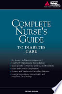 Complete Nurse S Guide To Diabetes Care