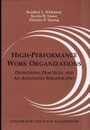 High-performance Work Organizations