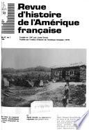 Revue d'histoire de l'Amérique française