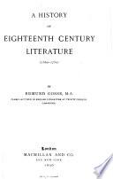 A History of Eighteenth Century Literature