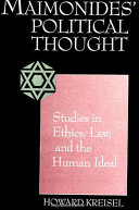 Pdf Maimonides' Political Thought Telecharger