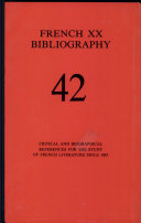 French Twentieth Bibliography Pdf/ePub eBook