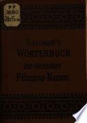 Wörterbuch der deutschen Pflanzen-Namen