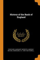 History of the Bank of England