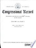 Congressional Record, V. 144, Pt. 5, April 21, 1998 to April 30 1998
