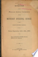 Annual Minutes of the Michigan Conference of the Methodist Episcopal Church
