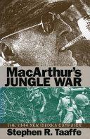 MacArthur s Jungle War Book PDF