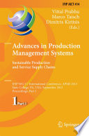 Advances in Production Management Systems  Sustainable Production and Service Supply Chains