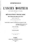 Réimpression de l'ancien Moniteur: Constituante