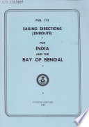 Sailing Directions (enroute) for India and the Bay of Bengal