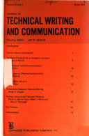 Journal Of Technical Writing And Communication
