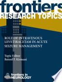 Role Of Intravenous Levetiracetam In Acute Seizure Management