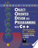 Object-Oriented Design and Programming with C++