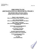Fire Effects On Archaeological Resources Phase I The Henry Fire Holiday Mesa Jemez Mountains New Mexico