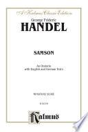 Samson  1743   An Oratorio