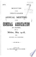 Minutes of the     Annual Meeting at     with Reports and Statistics Book