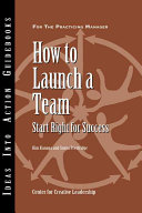 How to Launch a Team