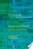 Methoden der Diskurslinguistik  : Sprachwissenschaftliche Zugänge zur transtextuellen Ebene