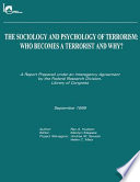 The Sociology and Psychology of Terrorism