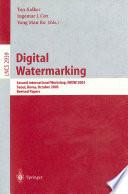 Digital Watermarking Book PDF