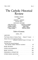 The Catholic Historical Review