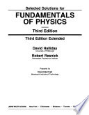 Selected solutions for Fundamentals of physics, third edition, third edition extended