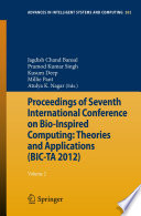 Proceedings of Seventh International Conference on Bio Inspired Computing  Theories and Applications  BIC TA 2012