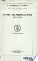 Iron and steel industry and trade of Canada ...