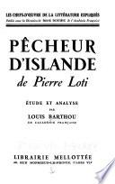 Pêcheur d'Islande de Pierre Loti, pseud