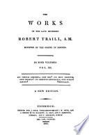 The Works of Robert Traill Book