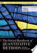 The Oxford Handbook of Quantitative Methods in Psychology Book