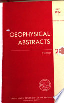 Geophysical Abstracts Book PDF