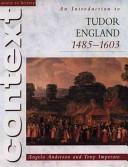 An Introduction to Tudor England, 1485-1603