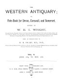 Pdf The Western Antiquary; Or, Devon and Cornwall Note-book