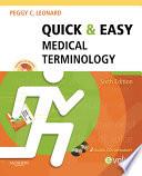 Quick   Easy Medical Terminology   E Book Book