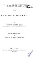 Principles of the Law of Scotland