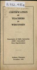 Certification of Teachers in Wisconsin