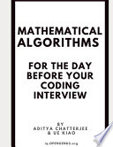 Mathematical Algorithms for the Day Before Your Coding Interview