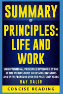 Summary of Principles  Life and Work by Ray Dalio