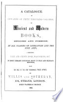 A Catalogue of Valuable New and Second hand Books