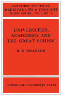 Universities  Academics and the Great Schism