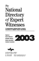 The National Directory Of Expert Witnesses Book PDF