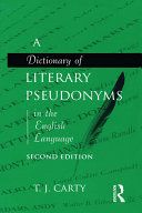 A Dictionary of Literary Pseudonyms in the English Language Pdf/ePub eBook