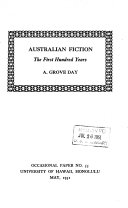 Australian Fiction  the First Hundred Years