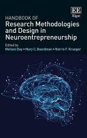 Handbook of Research Methodologies and Design in Neuroentrepreneurship