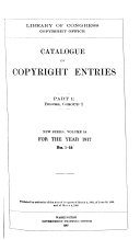 Catalog of copyright entries: Books. Part, group 1