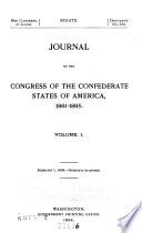 Journal of the Congress of the Confederate States of America  1861 1865