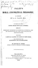 Paley s Moral and Political Philosophy