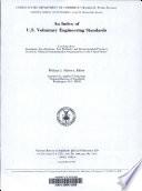 An Index of U.S. Voluntary Engineering Standards
