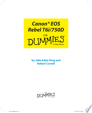 Download Canon EOS Rebel T6i / 750D For Dummies Free Books - Dlebooks.net